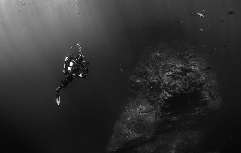 Muck diving in the ocean