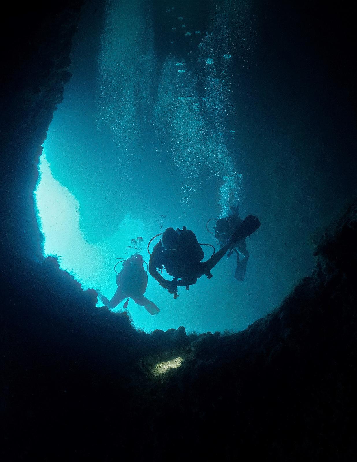 cave diving lanzarote