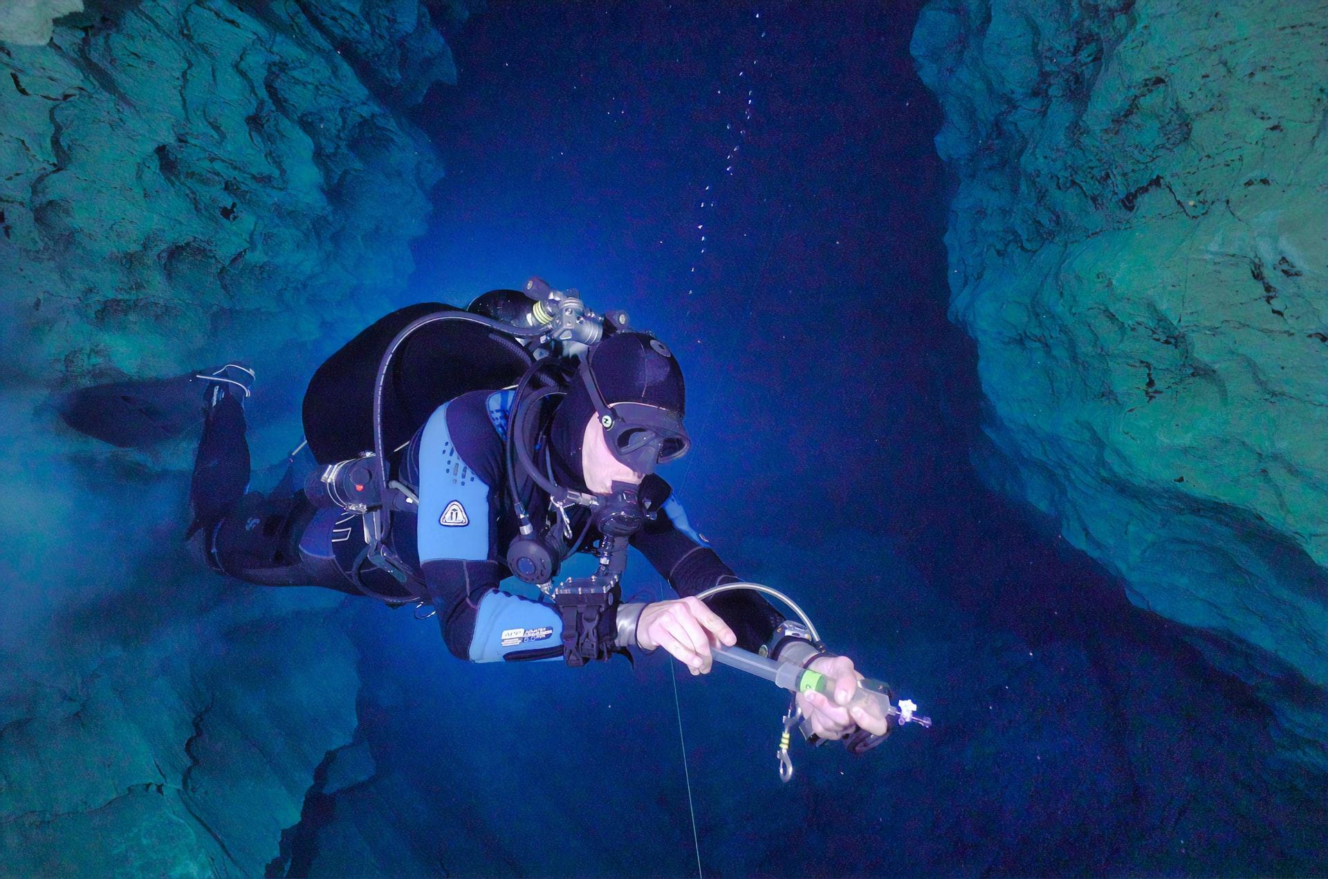 cave diving in croatia
